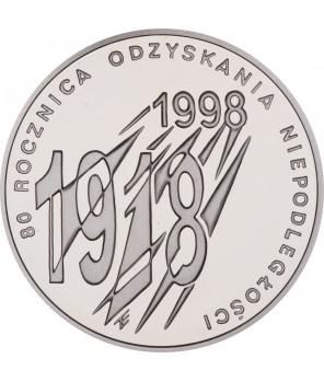 10 zł 80. Rocznica Odzyskania Niepodległości 1998