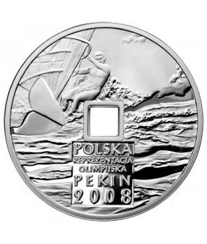 10 zł Igrzyska XXIX Olimpiady Pekin dziura 2008