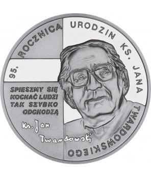 10 zł 95. rocznica urodzin ks. Jana Twardowskiego 2010