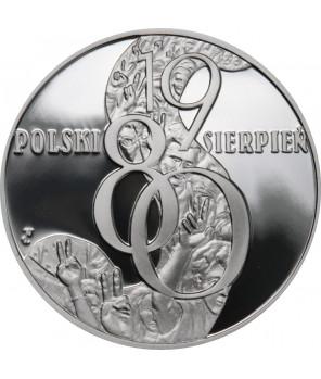 10 zł Polski sierpień '80 2010