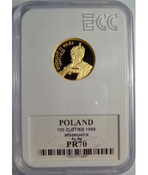 100 zł Zygmunt III Waza 1998 GCN PR70