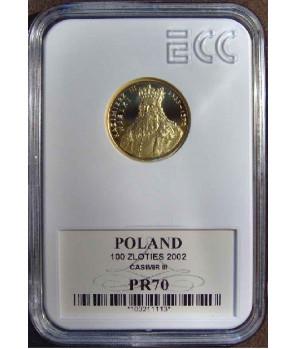 100 zł Kazimierz III Wielki 2001 GCN PR70