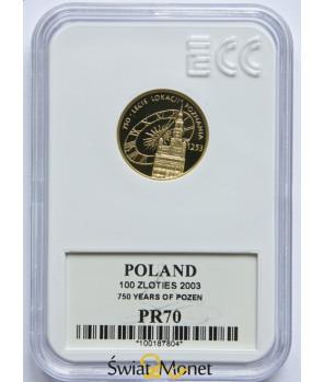100 zł Lokacja Poznania 2003 GCN PR70