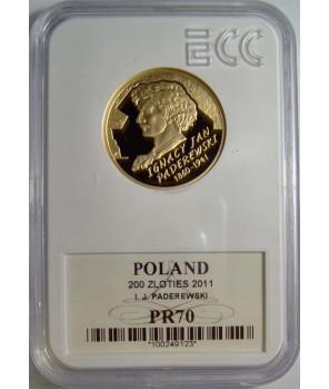 200 zł Ignacy Paderewski 2011 GCN PR70