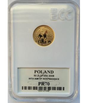 50 zł Odzyskanie niepodległości 2008 GCN PR70