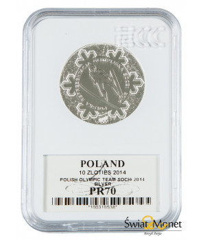 10 zł Polska Reprezentacja Olimpijska Soczi 2014 GCN PR70