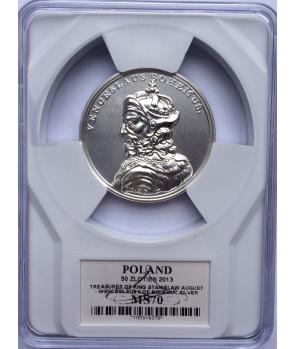 50 zł Skarby Stanisława Augusta – Wacław II Czeski 2013 GCN PR70