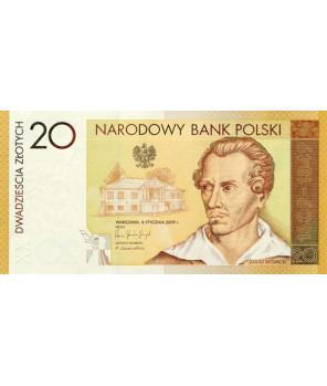 20 zł 200. rocznica urodzin Juliusza Słowackiego 2009