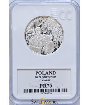 10 zł Jan III Sobieski popiersie 2001 GCN PR70
