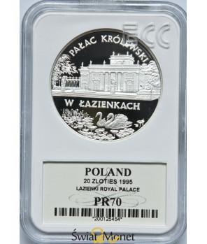 20 zł Pałac Królewski w Łazienkach 1995 GCN PR70