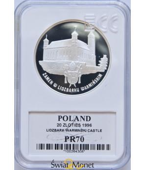 20 zł Zamek w Lidzbarku Warmińskim 1996 GCN PR70