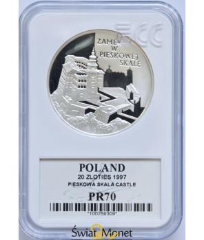 20 zł Zamek w Piaskowej Skale 1997 GCN PR70