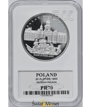 20 zł Pałac Potockich w Radzyniu Podlaskim 1999 GCN PR70