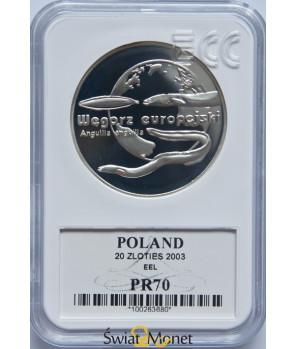 20 zl Węgorz 2003 GCN PR70