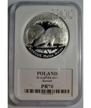 20 zł Borsuk 2011 GCN PR70