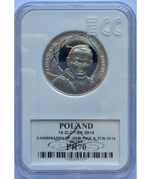10 zł Kanonizacja Jana Pawła II 2014 GCN PR70