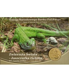 2 zł Jaszczurka zielona 2009