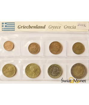 Grecja 2002 - zestaw euro