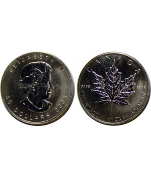 KANADA 50 DOLARÓW 2005 - PALLAD