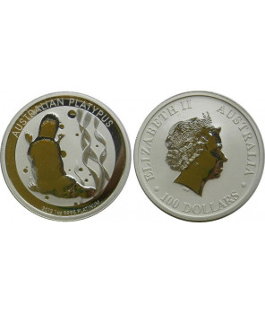 AUSTRALIA 100 $ 2012 PLATYNA DZIOBAK 1 UNCJA(Y16)