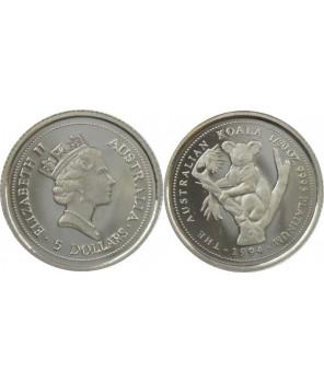 AUSTRALIA 5 $ 1994 KOALA PLATYNA 1/20 UNCJI