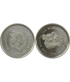 AUSTRALIA 5 $ 1996 KOALA PLATYNA 1/20 UNCJI