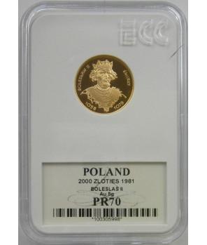 2000 zł Bolesław II Śmiały 1981 GCN PR70