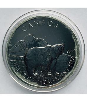 Kanada 5 $ niedźwiedź 2011 uncja srebra