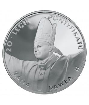 10 zł Jan Paweł II 20-lecie pontyfikaru 1998