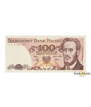 100 zł Ludwik Waryński 1988 seria TC UNC