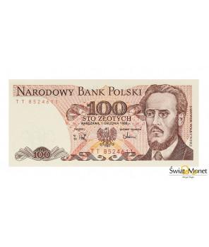 100 zł Ludwik Waryński 1988 seria TT UNC