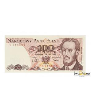 100 zł Ludwik Waryński 1988 seria TG UNC