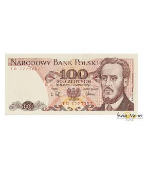 100 zł Ludwik Waryński 1988 seria TD UNC