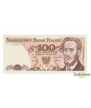 100 zł Ludwik Waryński 1988 seria TL UNC