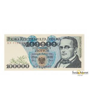 100 000 zł Moniuszko 1990 seria BP UNC