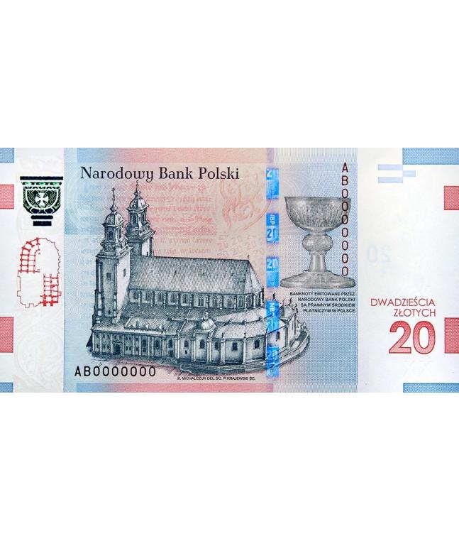 20 zł 1050. rocznica Chrztu Polski 2016