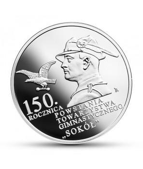10 zł 2017 150. rocznica powstania Towarzystwa Gimnastycznego SOKÓŁ