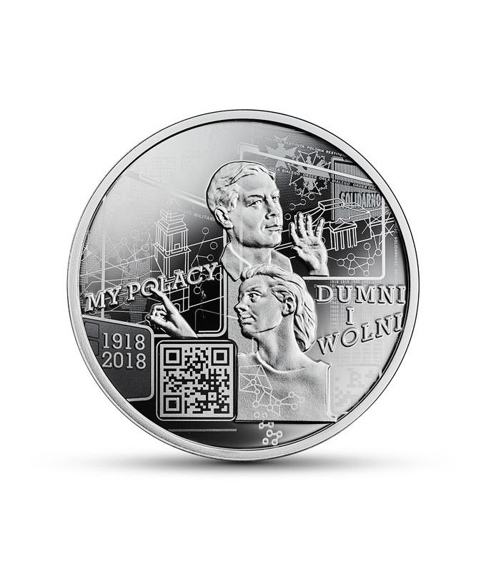 10 zł My Polacy dumni i wolni 1918-2018