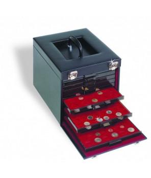 Leuchtturm Skórzany kufer na 10 kaset MB KOLE 10