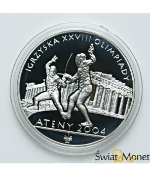 10 zł Igrzyska Olimpijskie Ateny -szermierka 2004