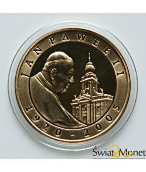 10 zł Jan Paweł II platerowany złotem 2005