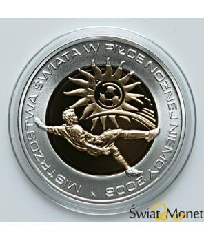 10 zł MŚ w piłce nożnej w Niemczech platerowane 2006