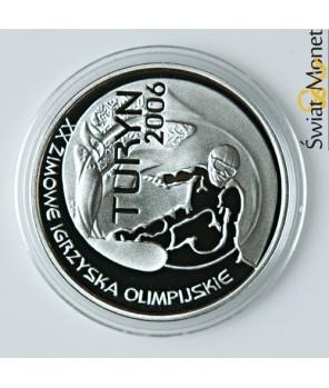 10 zł Turyn 2006 snowboardzista