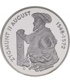 10 zł 10 zl Zygmunt II August półpostać 1996
