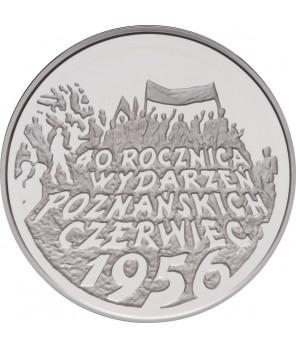 10 zł 40. rocznica wydarzeń poznańskich 1996