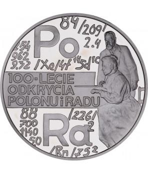 20 zł 100-lecie odkrycia radu i polonu 1998