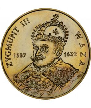 Moneta 2 zł Zygmunt III Waza