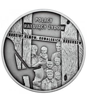 20 zł Polacy ratujący Żydów – rodzina Ulmów, Kowalskich, Baranków 2012