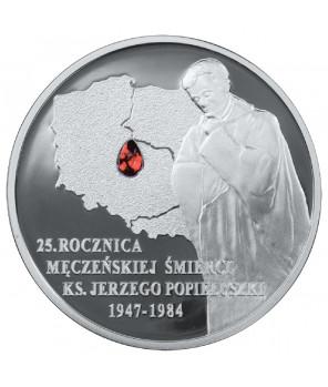 10 zł 25. rocznica męczeńskiej śmierci księdza Jerzego Popiełuszki 2009