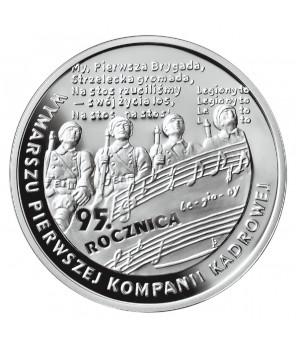 10 zł 95. rocznica wymarszu Pierwszej Kompanii Kadrowej 2009